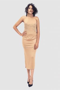 Kleid mit Turtleneck, turtleneck dress, long cocktail dress
