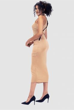 turtleneck dress, long cocktail dress