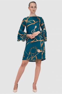 Kleid mit Print, seide kleid, silk dress with print
