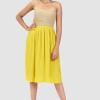 Midi Kleid, yellow dress, gelb kleid