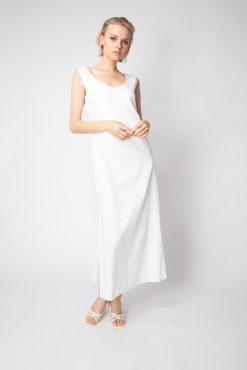 Langes Sommerkleid mit Seitenschlitz